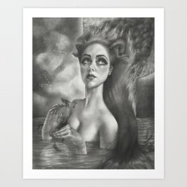 Aries with Pisces Moon Art Print
