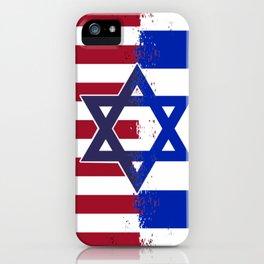 Israel USA flag iPhone Case