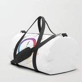 7 Chakra Lotus Flower Art Duffle Bag