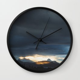 Sunrise over Kachemak Bay, Alaska Wall Clock