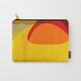 Orange, Yellow and Green Carry-All Pouch