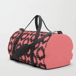 Pink and black abstract pattern . Duffle Bag