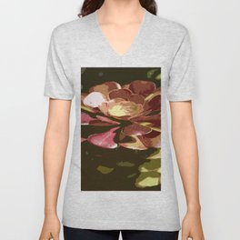 Red Sedum Unisex V-Neck