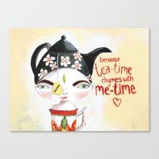 Miss Tea-Time Canvas Print