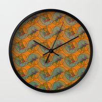 art deco Wall Clocks featuring Art Deco by Mimi