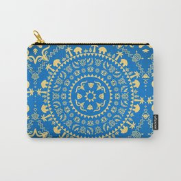 Ornamental African Animal Pattern Carry-All Pouch
