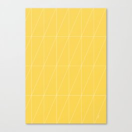 Yellow Triangles by Friztin Canvas Print