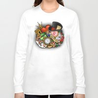 wonderland Long Sleeve T-shirts featuring Wonderland  by Katie Simpson a.k.a. Redhead-K