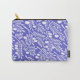 Olive Branches – Periwinkle Carry-All Pouch