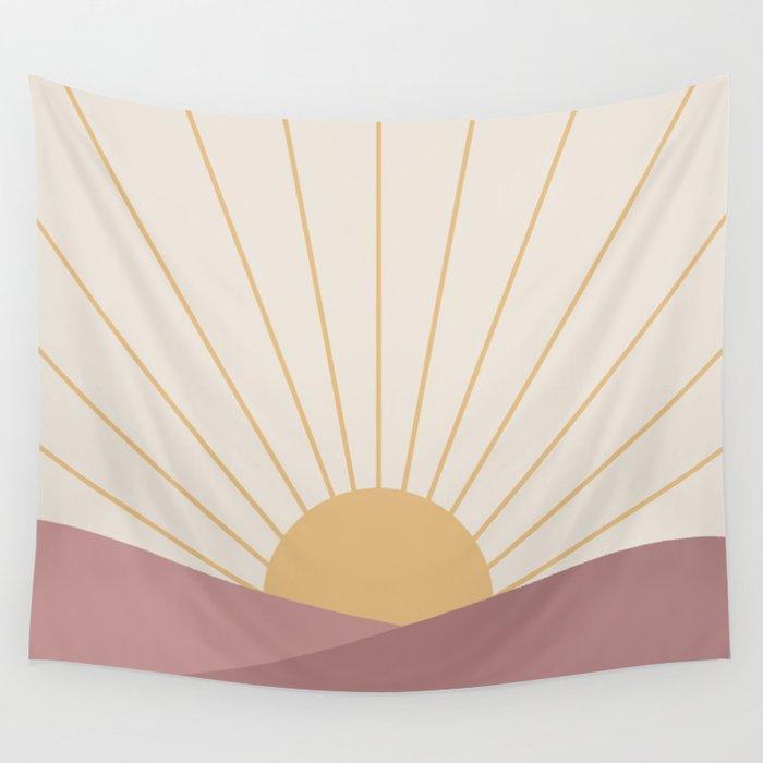 Morning Light - Pink Wall Tapestry