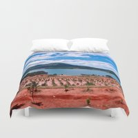 vietnam Duvet Covers featuring Lake - Central Highland - Vietnam by CAPTAINSILVA