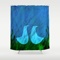 lovers Shower Curtains featuring Lovers by Inmyfantasia