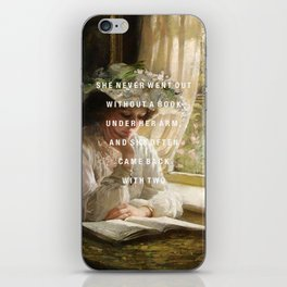 never without a book iPhone Skin