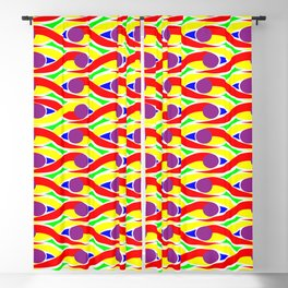 Vintage Batik Pattern Colorfull Blackout Curtain