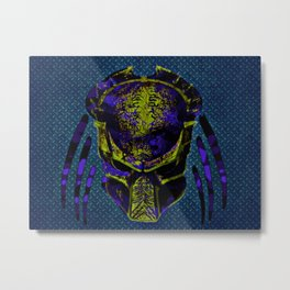 Soldier Predator Blue Yellow Metal Print