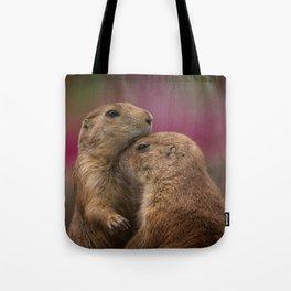 Loving Prairie Dogs Tote Bag