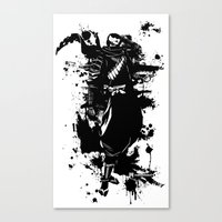 ninja Canvas Prints featuring Ninja by KawaINDEX