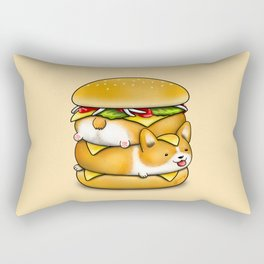 Double Corgi Pounder Rectangular Pillow