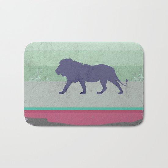 Lions are big kitties  Bath Mat