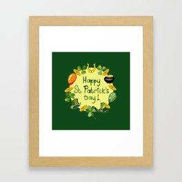 Happy St Patrick`s Day Framed Art Print