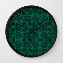 Lush Meadow Geometric Floral Abstract Wall Clock