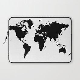 Black and White world map Laptop Sleeve