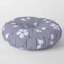 Periwinkle Flowers Dance Pattern Floor Pillow