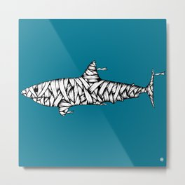 Shark-Mummy Metal Print
