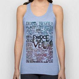 Pierce The Veil Lyrics Unisex Tank Top