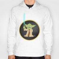 yoda Hoodies featuring Yoda by alittlecartoonie