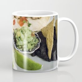 Chicken fajitas in a Mexican restaurant Coffee Mug