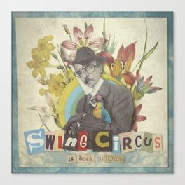 Swing Circus Man Canvas Print