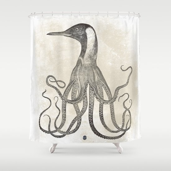 The Octo-Loon Shower Curtain
