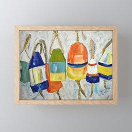 Lobster Buoys Framed Mini Art Print