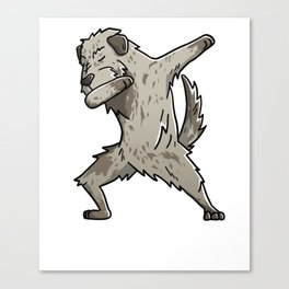 Funny Dabbing Irish Wolfhound Dog Dab Dance Canvas Print