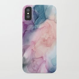 Dark and Pastel Ethereal- Original Fluid Art Painting iPhone Case