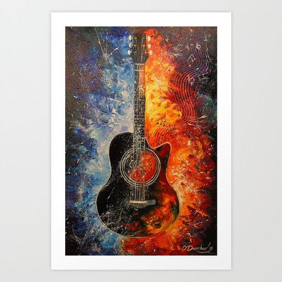 The rhythms of the guitar Art Print