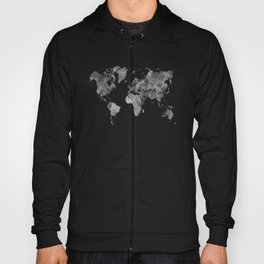 World map in watercolor gray Hoody