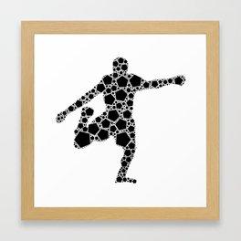 Footballer Hexagonals Framed Art Print