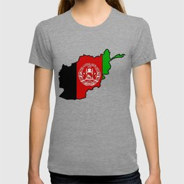 Afghanistan Map with Afghan Flag T-shirt