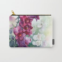 Campanula watercolor flowers aquarelle bellflowers Carry-All Pouch