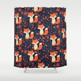 fox in foliage Shower Curtain