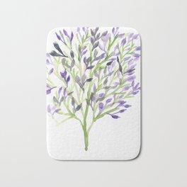 Watercolour Tree 1 |Modern Watercolor Art | Abstract Watercolors Bath Mat