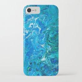 Elegant Crazy Lace Agate 2 - Blue Aqua iPhone Case