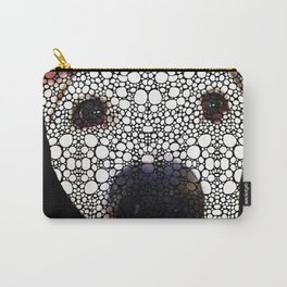 Stone Rock'd Dog 2 by Sharon Cummings Carry-All Pouch
