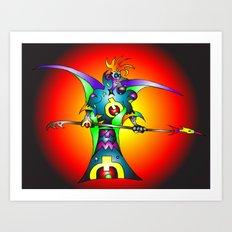 Dekari Warrior Art Print