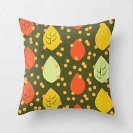 Vintage Leaves Throw Pillow