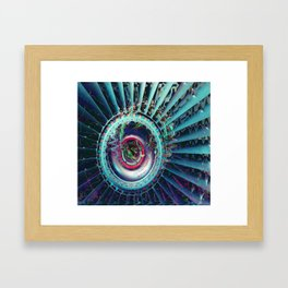 Jet Engine Geometric Abstract Framed Art Print