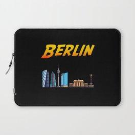 Berlin Vintage Comic Style - German Capital Laptop Sleeve