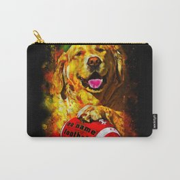 golden retriever dog football splatter watercolor Carry-All Pouch